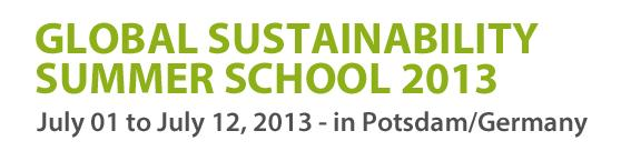 global-sustainability-summer-school-2013