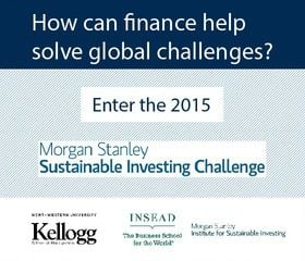 2015 Morgan Stanley Sustainable Investing Challenge Win