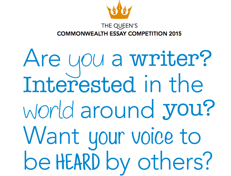 queen s commonwealth essay competition for young writers from 2015 queen s commonwealth essay competition for young writers from commonwealth nations win an all expense paid trip to london opportunities for africans