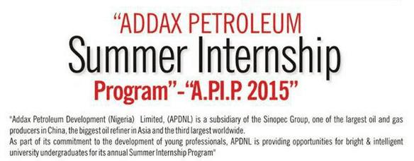Addax petroleum summer internship programme for nigerians apip application altavistaventures Gallery