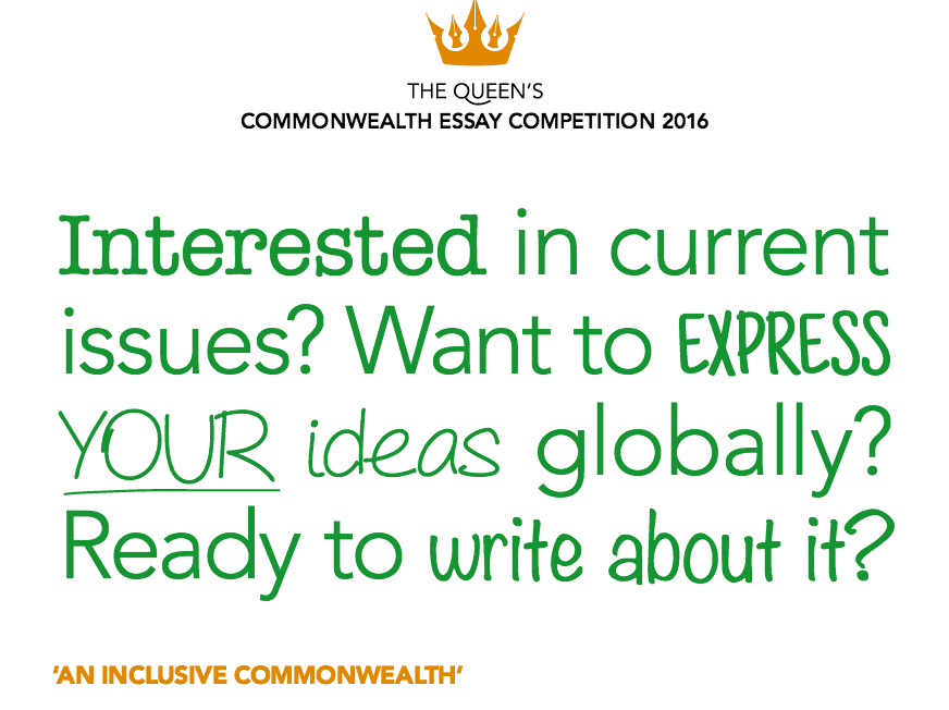 queen s commonwealth essay competition for young writers from  2016 queen s commonwealth essay competition for young writers from commonwealth nations opportunities for africans