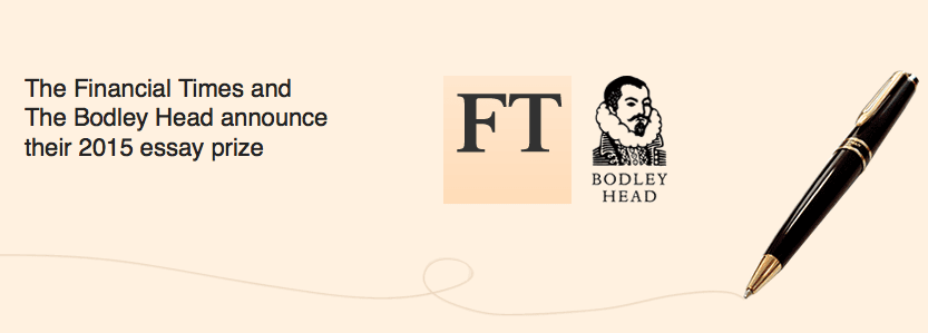 ft bodley head essay prize 2015