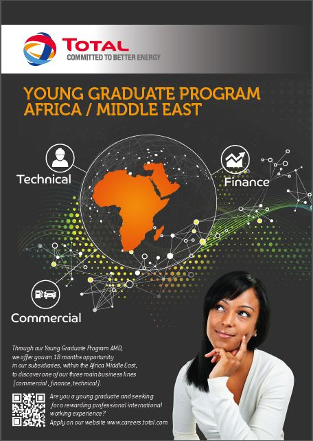 c8e53a1351 Total Oil Young Graduate Program 2016 African Middle Eastern for Young  Professionals