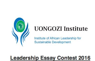 uongozi institute essay competition 2016