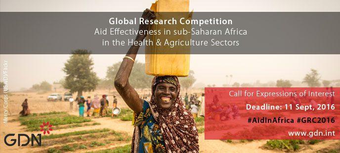Appel à Expression d'Intérêt: Global Research Competition sur le thème de l'efficacité de l'aide en Afrique Sub-Saharienne (ASS),