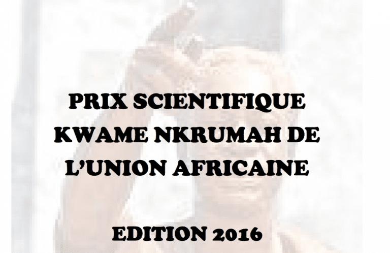 Le Programme de Prix scientifique Kwame Nkrumah de l'Union africaine