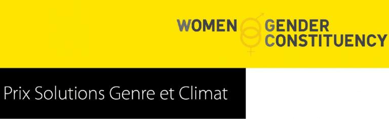 La Women & Gender Constituency Prix 'Solutions Genre et Climat 2016