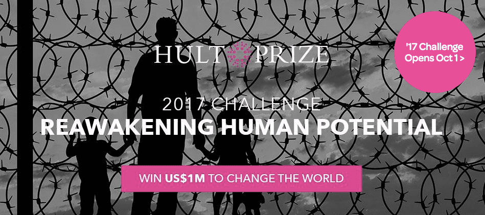 """2017 Hult Prize """"President's Challenge"""" Student Competition (USD1"""