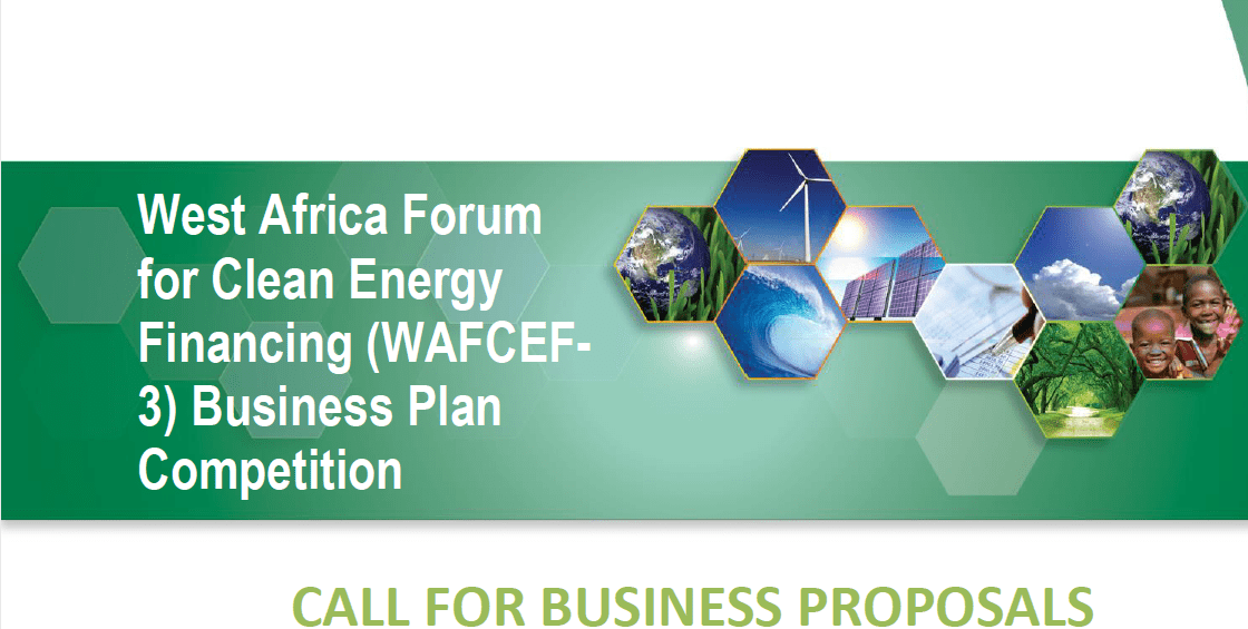 West Africa Forum For Clean Energy Financing Wafcef  Business Competition  Opportunities For Africans