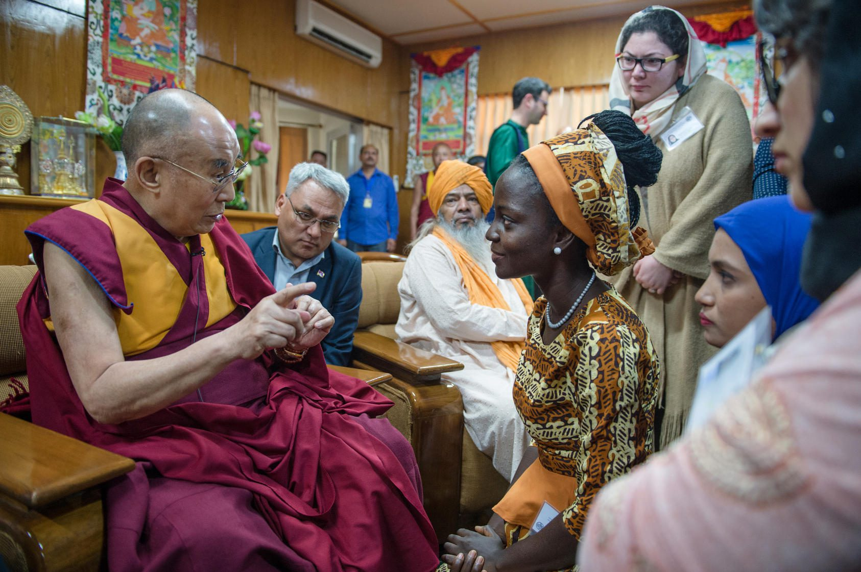 2018 USIP Youth Leaders Exchange With His Holiness The Dalai Lama