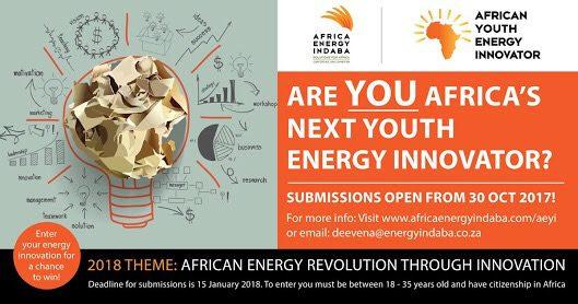 Africa Energy Indaba Programme d'innovation énergétique pour les jeunes africains 2018
