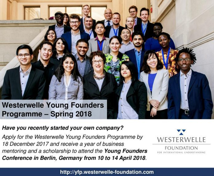Westerwelle Foundation Programme 2018 for Young Entrepreneurs