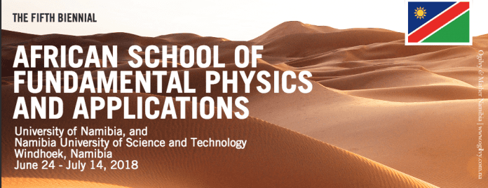 The 5th edition of the biennial African School of Fundamental Physics and Applications, ASP2018, will take place on June 24 – July 14, 2018 in Namibia.