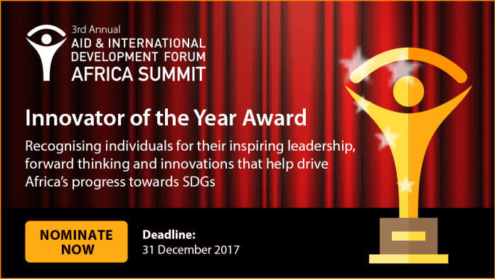 Aid & Development Africa Summit 2018 - Innovator of the Year Award