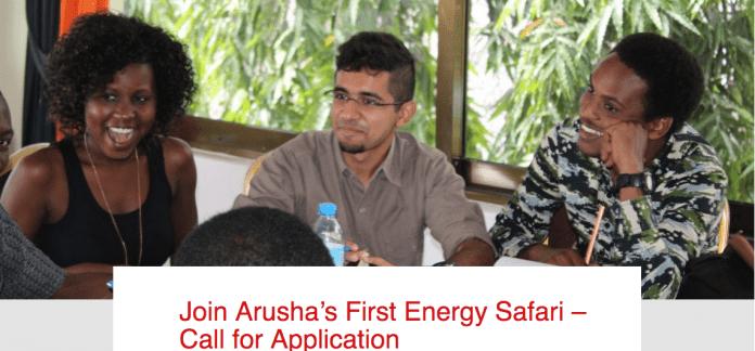 انضم إلى أول سفاري للطاقة في أروشا - Call for Application