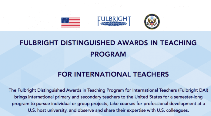 FULBRIGHT DISTINGUISHED AWARDS IN TEACHING PROGRAM FOR INTERNATIONAL TEACHERS