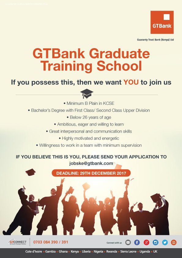 GTB Kenya Graduate Training School for young Kenyans