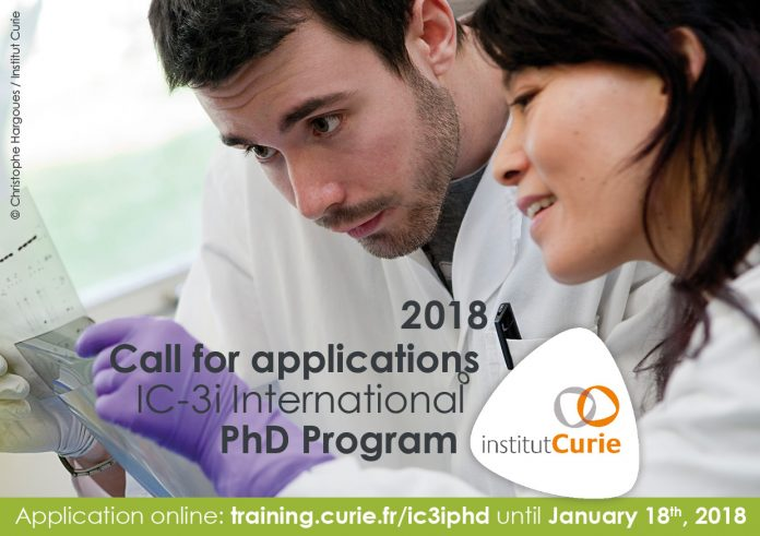 Institut Curie 2018 IC-3i International PhD Program