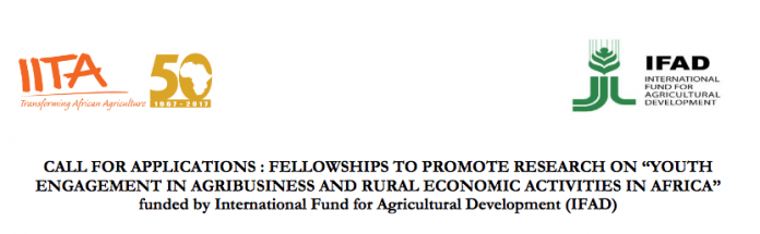 "FELLOWSHIPS TO PROMOTE RESEARCH ON ""YOUTH ENGAGEMENT IN AGRIBUSINESS AND RURAL ECONOMIC ACTIVITIES IN AFRICA"