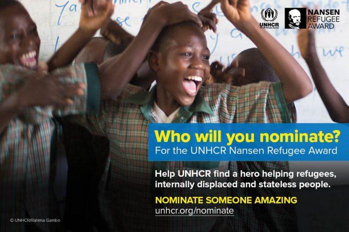 المفوضية نانسن للاجئين، على جائزة 2018