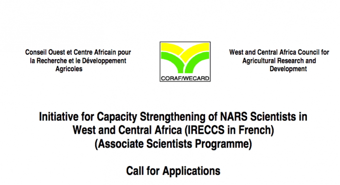Initiative for Capacity Strength ening of NARS Scientists in West and Central Africa (IRECCS in French) (Associate Scientists Programme) Call for Applications