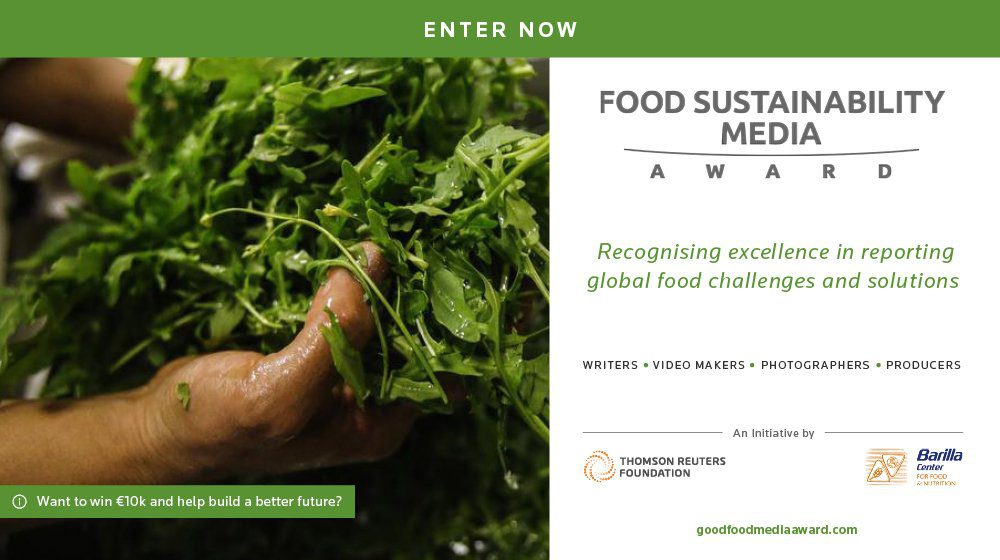food sustainability media award 2018 for emerging professional journalists 10 000 euros cash. Black Bedroom Furniture Sets. Home Design Ideas