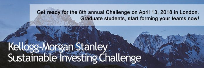 The Kellogg-Morgan Stanley Sustainable Investing Challenge 2018