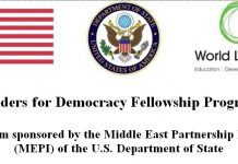 Leaders for Democracy Fellowship Program 2018