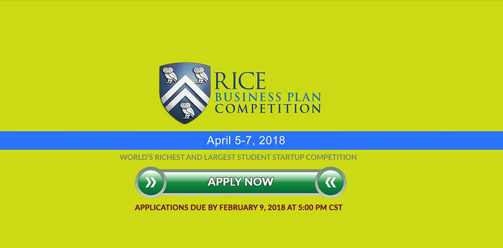 Rice University Business Plan Graduate-level Student Startup