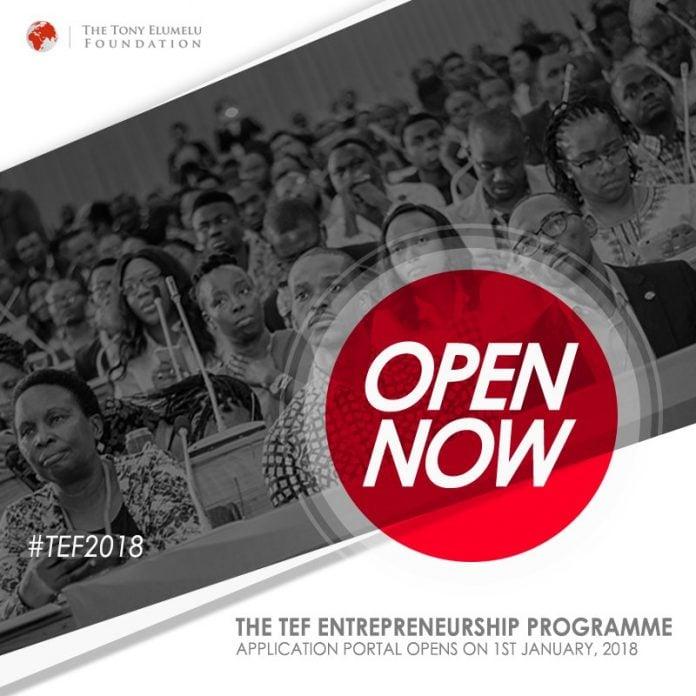 Tony Elumelu Programme d'entrepreneuriat (TEEP) 2018