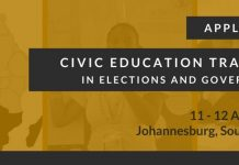 MINDS 2018 Southern Africa Civic Education Workshop in Elections and Governance.
