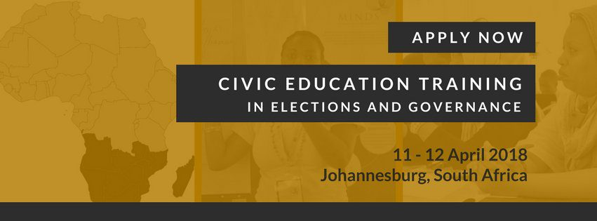 MINDS 2018 Southern Africa Civic Education Workshop in Elections and
