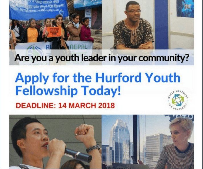 National Endowment for Democracy (NED) Hurford Youth Fellows