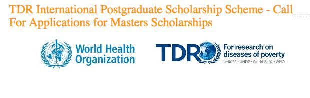 在加纳2018获得全额资助的WHO / TDR国际研究生奖学金计划