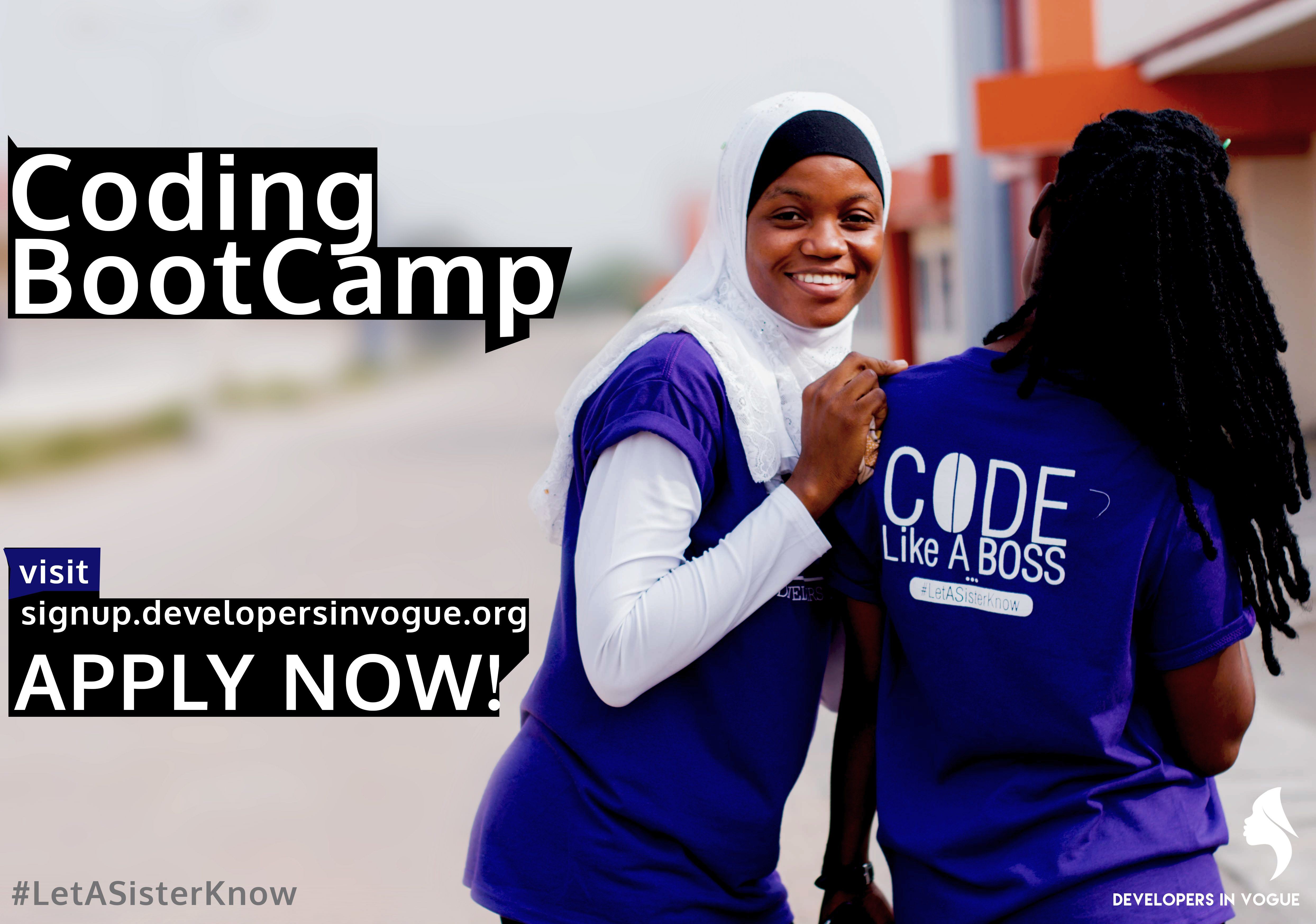 Developers In Vogue Coding Bootcamp 2018 for Ghanaian