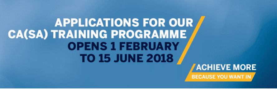 Standard Bank Chartered Accounting CA(SA) Programme 2018 for Young South Africans