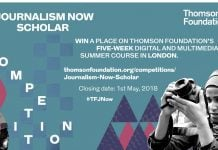 Thomson Foundation's five-week digital and multimedia summer course