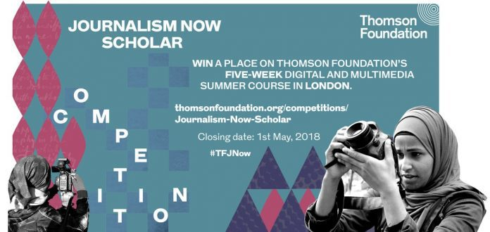 Curso de verão digital e multimídia de cinco semanas da Thomson Foundation