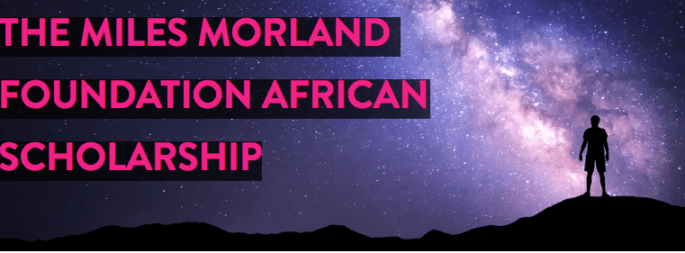 Miles Morland Foundation African Scholarship 2018 at the  University of East Anglia, UK