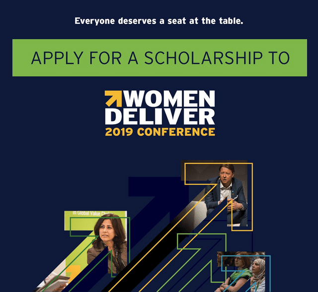 Female Scholarships Scholarships Com >> The Women Deliver 2019 Conference Media Scholarships Fully Funded