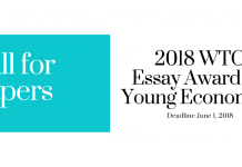 WTO issues call for papers for 2018 Essay Award for Young Economists