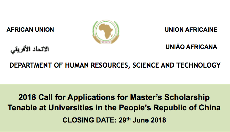 Chinese Government/African Union Commission Master's & Doctoral