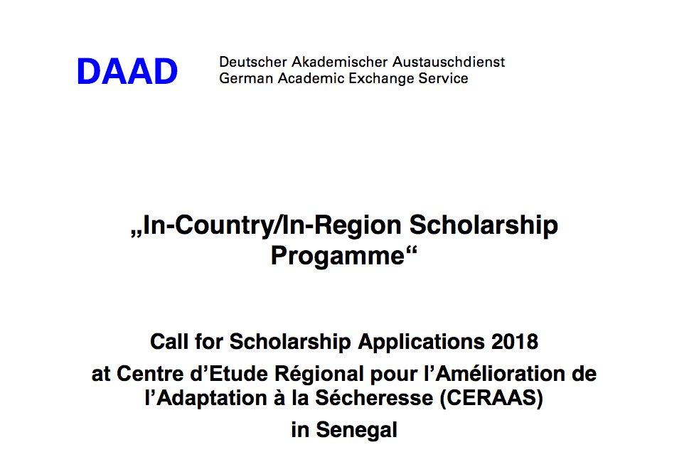 Ceraasdaad in countryin region phd and master scholarships 2018 ceraasdaad in countryin region phd and master scholarships 20182019 for study in senegal funded spiritdancerdesigns Images