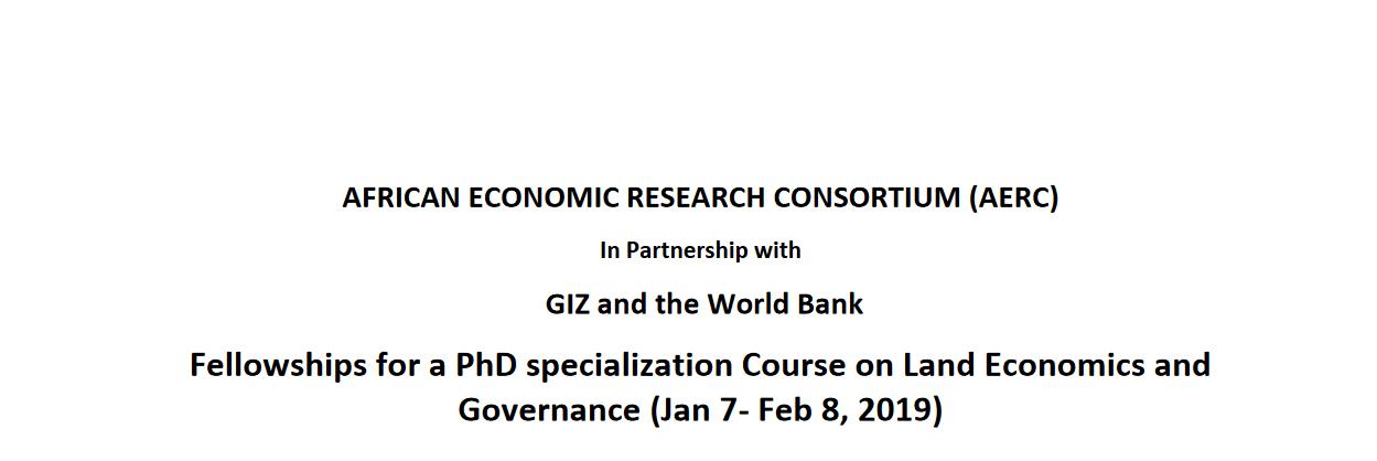 Bourses Du Consortium Pour La Recherche économique En