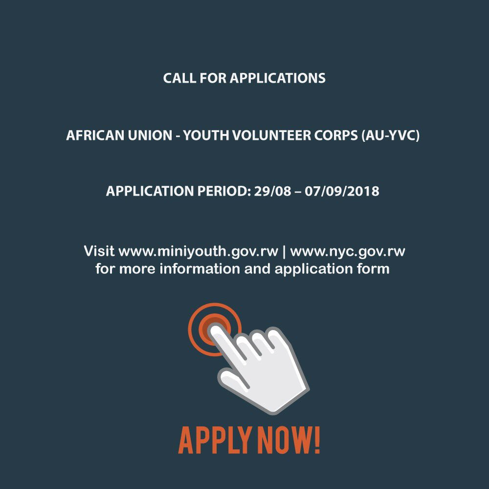African Union Youth Volunteer Corps (AU-YVC) program 2018/2019 for