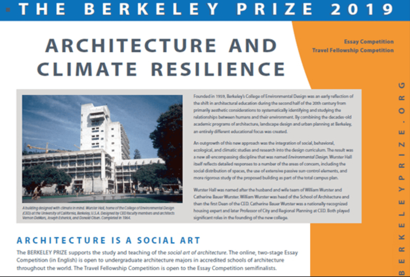 Surprising Berkeley Undergraduate Prize For Architectural Design Home Remodeling Inspirations Genioncuboardxyz
