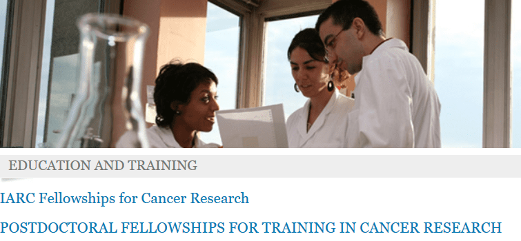International Agency for Research on Cancer (IARC) Postdoctoral