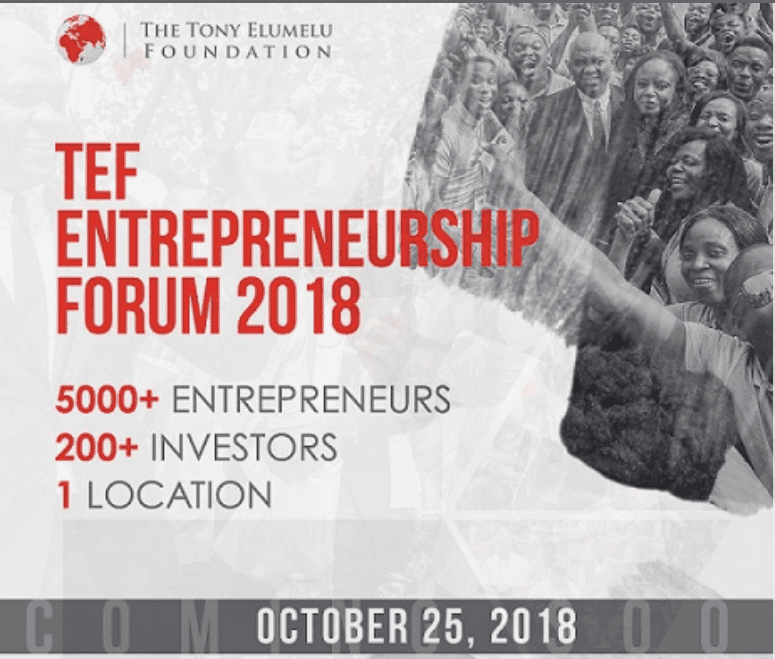 Tony Elumelu Foundation Entrepreneurship Forum (TEF) 2018