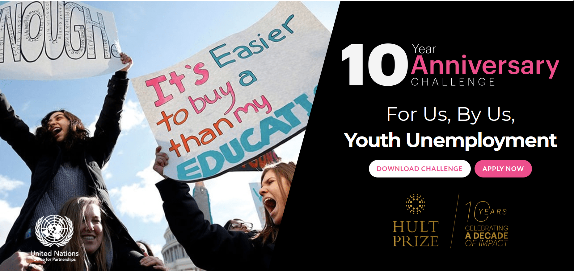 Hult Prize 10th Year Anniversary Challenge 2019 for high impact