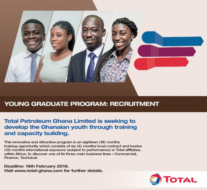 0f18eb5c4d Total Petroleum Ghana 2019 Young Graduate Program for young Ghanaians.
